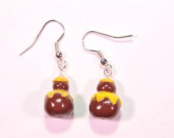 Lemon religious earrings