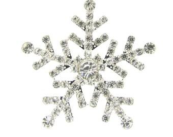 20pcs Rhinestone Snowflake Flat Back Diamante Snowflakes Wholesale Winter Weddings DIY Wedding Invitation Supplies Bridal Crafts