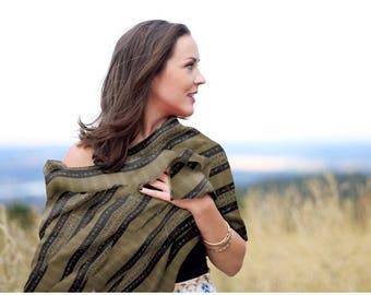 100%Silk Scarf, Women Fashion, Fabric Jewel, Silk,Ethiopian, Eritrian, Abesha, Wrap, Comfortbl