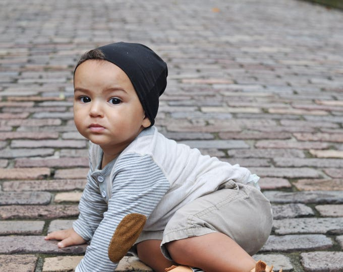 Black Slouchy Baby Beanie