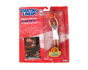 Vintage NIB Nick Van Horn Starting Line Up Toy 90s 1998 New Jersey Nets Action Figure Basketball NBA