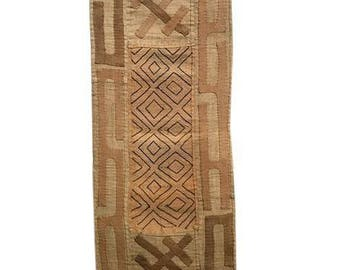 Vintage Handwoven Kuba Cloth Panel
