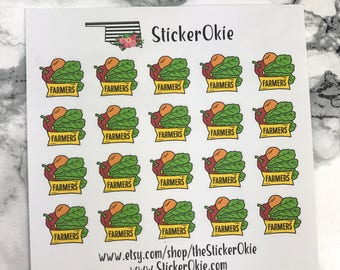 Farmers Market Planner Sticker