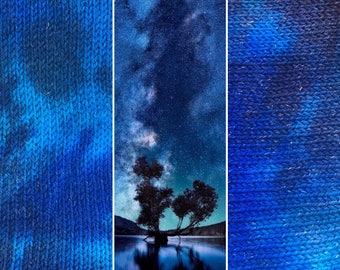 Night Sky Sock Blank, indie dyed merino nylon yarn