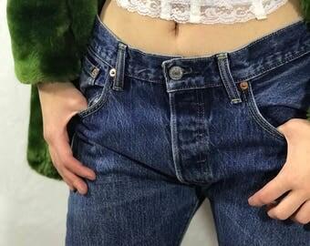 Vintage Levi's 501 Jeans Medium Wash Straight Leg Denim 30x32