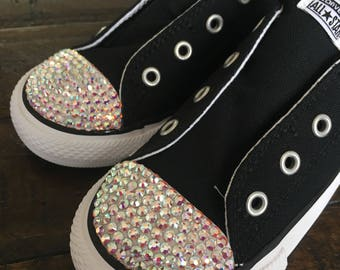 Low Top AB Bling Converse Velcro