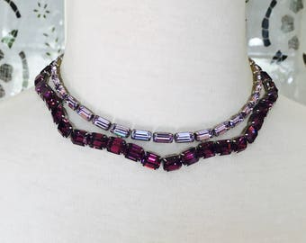 Fenichel 1950's Crystal Necklace