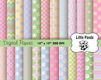 70% OFF SALE Easter Digital Paper Pack 24 jpg files 12 x 12  - Instant Download - D219