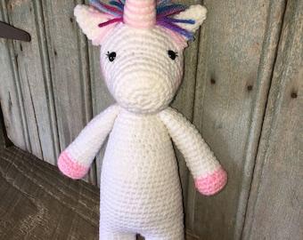 Crochet Unicorn Amigurumi Plushie