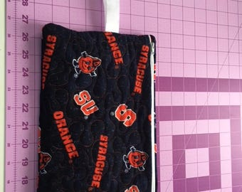 Hand made Syracuse University zippered cosmetic/kindle/anything bag (new SU fabric)