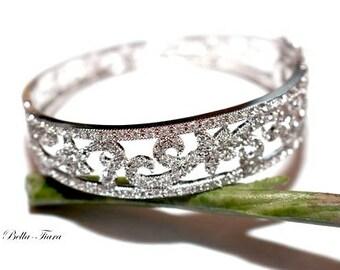 Swarovski crystal cuff bracelet, bridal cuff bracelet, crystal cuff bracelet, wedding cuff bracelet, crystal bridal bracelet