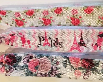Florals and Paris Hair Ties