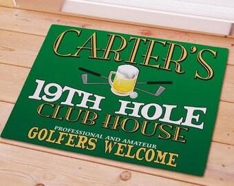 Personalized Floor Mat, Golf Door Mat