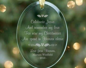 Personalized Memorial Christmas Ornament