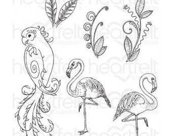Hertfelt Creations-Tropical Paradise Cling Stamp Set