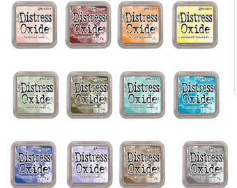 New-Tim Holtz-Ranger-Distress Oxide Ink Pads-Release 3-set of 12 (in stock)