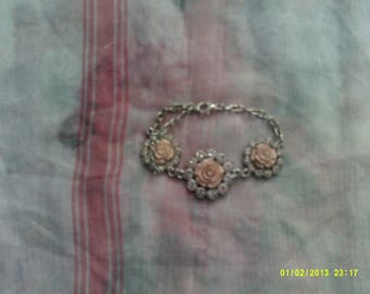 Sale on Small Silver Plated Flowered Bracelet for special someone