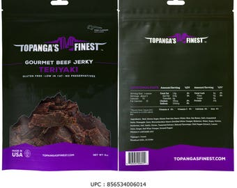 Homemade Gluten Free Teriyaki Beef Jerky, Healthy, Savory and Sweet