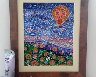 Hot Air Balloon art Framed Print
