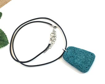 Unisex LAVA DIFFUSER NECKLACE lava stone lava rock pendant essential oil diffuser jewelry chunky lava stone