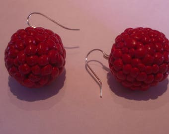 RASPBERRY FANCY EARRINGS