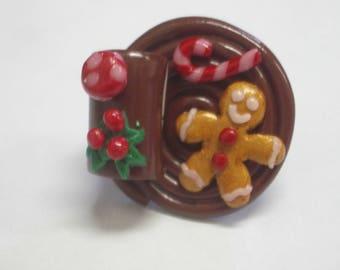 RING FIMO CHRISTMAS TRAY