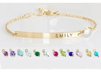 Personalized bracelet for mom, Kids name bracelet, Custom Name bracelet engraved, Mommy bracelet, Wife, Mother Grandma Christmas gift