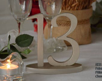 SET 1/35,Table Numbers for Wedding, Wooden Table Numbers, Rustic Wedding, Table Numbers
