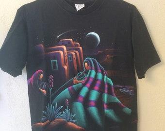 Vintage Screen Printed New Mexico Pueblo T-shirt