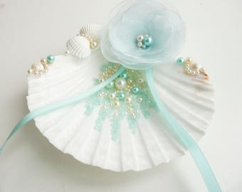 Seashell ring holder Beach Ring Holder Seashell Ring Bearer
