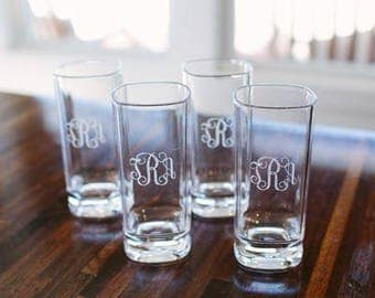 Heartstrings Personalized 16oz Tall Glass