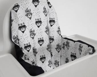 Antilop IKEA highchair cushion cover - cushion cover only - wild west raccoon cushion cover - gender neutral - woodland decor MADE to ORDER