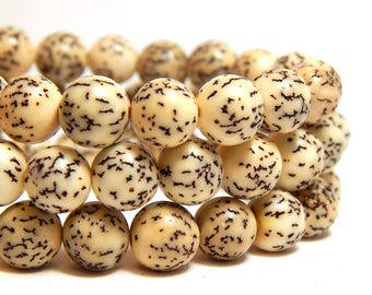 8mm Creamy White Salwag Seed Beads, Natural Beads, Seed Beads, Nut Beads, Natural Salwag Beads, Ivory Nut Beads, Creamy Natural Beads, D-F02