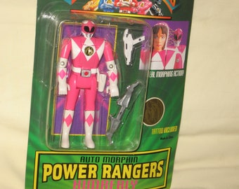 vintage 1994 bandai mighty morphin power rangers auto morphin kimberly pink ranger action figure