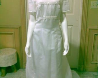 Santa Monica Satin  Wedding Dress Jackie O style Elegant Bridal Gown Pagent look/Empire Waist Wedding Dress /summer wedding dress size S/6