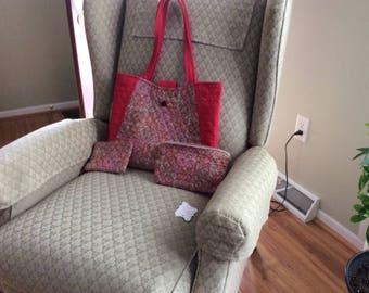 Red print bag