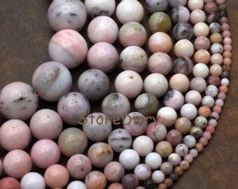Genuine Peruvian Pink Opal Beads,Round  Gemstone Beads -Full Strand 15.5inch  BE5941