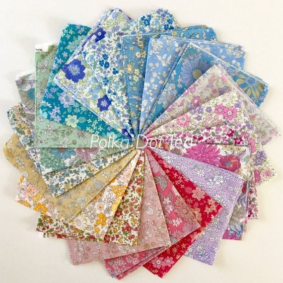 Memoire A Paris by Lecien on cotton LAWN  - Fat Quarter Bundle of 20 fabrics