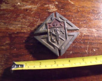 vintage knight of columbus liscence plate plaque