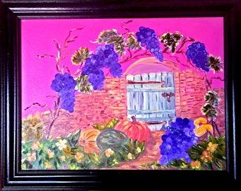 Painting, Oil, Bountiful Harvest, 22 x 28 framed; 18 x 24 unframed