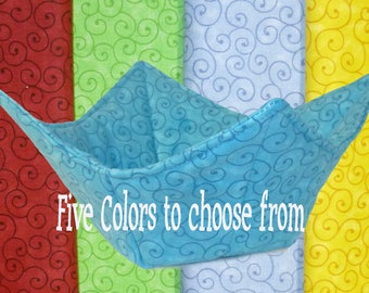 Microwave Bowl Cozy, Bowl Cozy, Pot Holders, Teal, Yellow, Red, Periwinkle, Green