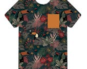 Bex's Pocket Tee / Jungle Toucan / Child Tee / Toddler Tee / Girl Tee / Boy Tee / Jungle Shirt / Pocket Shirt / Pocket Color Variable