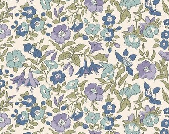 Fabric -Liberty  - The English Garden - Mamie, blue - Quilters weight cotton