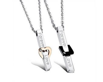 Let's Plan A Future Together - Couples Necklaces / Personalized Gifts for Him / Girlfriend and Boyfriend Necklaces / Custom Engraved