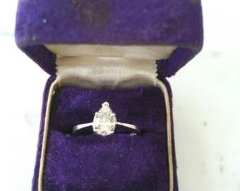 14k pear shape diamond   diamond engagement ring
