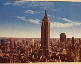 Vintage NY Postcard Empire State Building New York City Manhattan Postcard 1964
