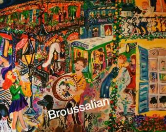 """Artwork -""""Mardi Gras"""" 11x14 Print by artist Maureen Broussalian"""