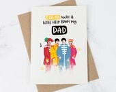 Funny Fathers Day Card - Beatles Card - Funny Cards  - Dad Card - Card for Dad - Fathers Day Card