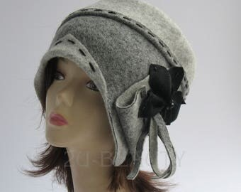 1920s cloche hats, Hats for Large Heads,  Size Large Hats, Stylish Winter Hats, Downton Abbey Hat, Womens Wool Hat, Handmade in Russia,1920s