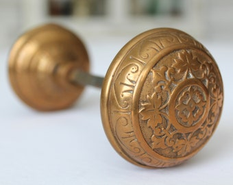 Antique Victorian Brass Eastlake Door Knob
